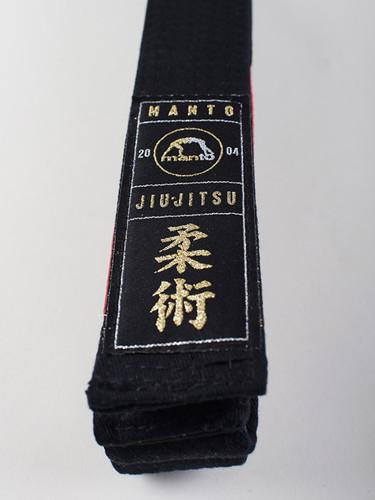 "MANTO ""ARTE SUAVE"" PREMIUM BELT Black for Jiu-Jitsu"