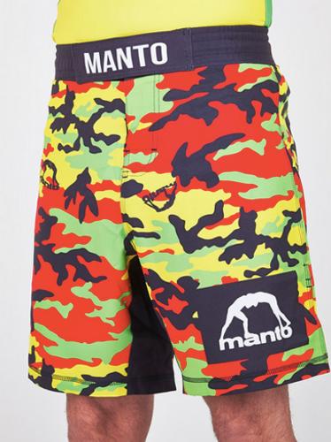 "MANTO ""RASTA"" Pro Shorts Camo Red"