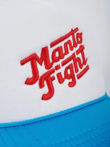 """MANTO """"CALI """" CAP Aqua & White"""