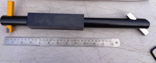 Boring bar Double Ended Large 380mm x 30mm with carbide and HSS cutters
