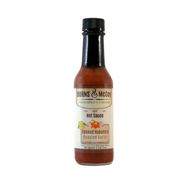 Smoked Habanero Roasted Garlic Hot Sauceby Burns and McCoy available at Pepper Explosion