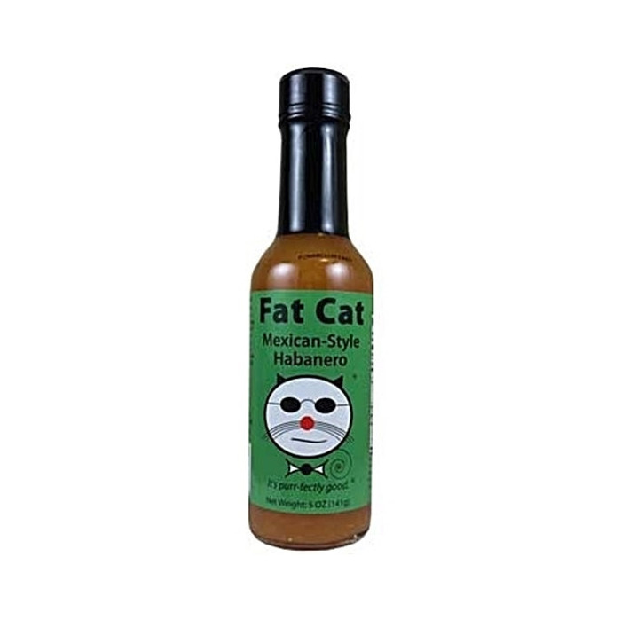 Fat Cat Mexican-Style Habanero Hot Sauce available online from PepperExplosion.com
