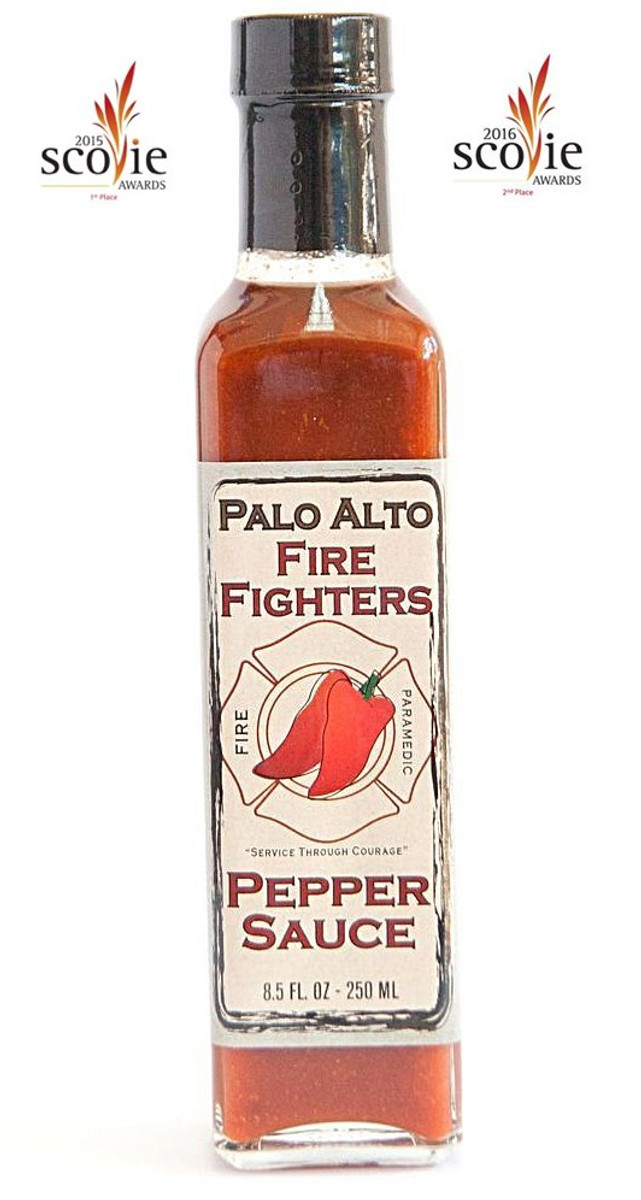 Palo Alto Firefighters Habanero Pepper Sauce available online at PepperExplosion.com
