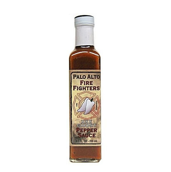 Palo Alto Firefighters Ghost Pepper Sauce is available now at PepperExplosion.com Hot Sauce Superstore