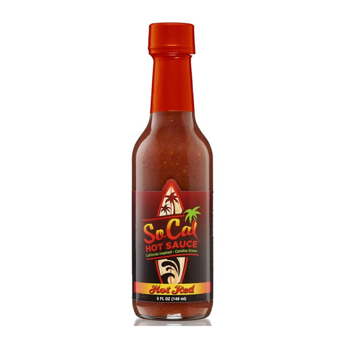 """SoCal """"Hot Red"""" Hot Sauce available online at Pepper Explosion"""
