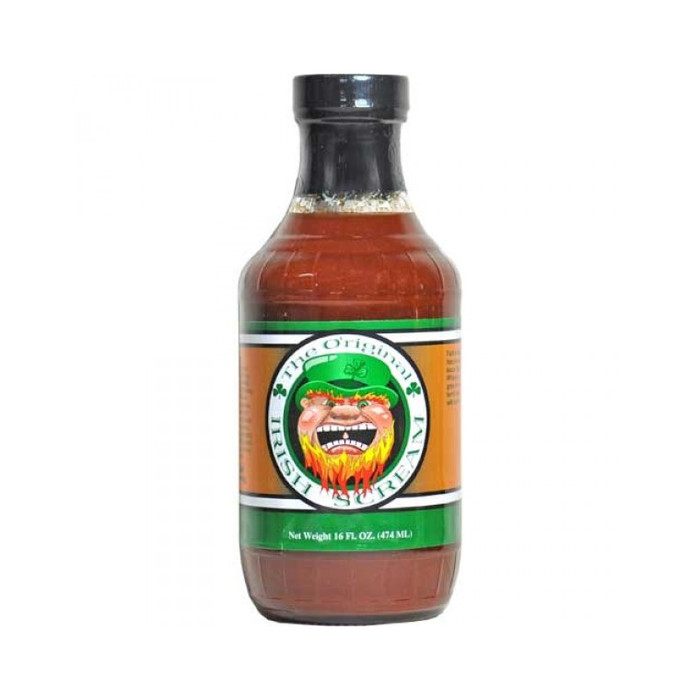 CaJohn's Irish Scream BBQ Sauce available online at PepperExplosion.com
