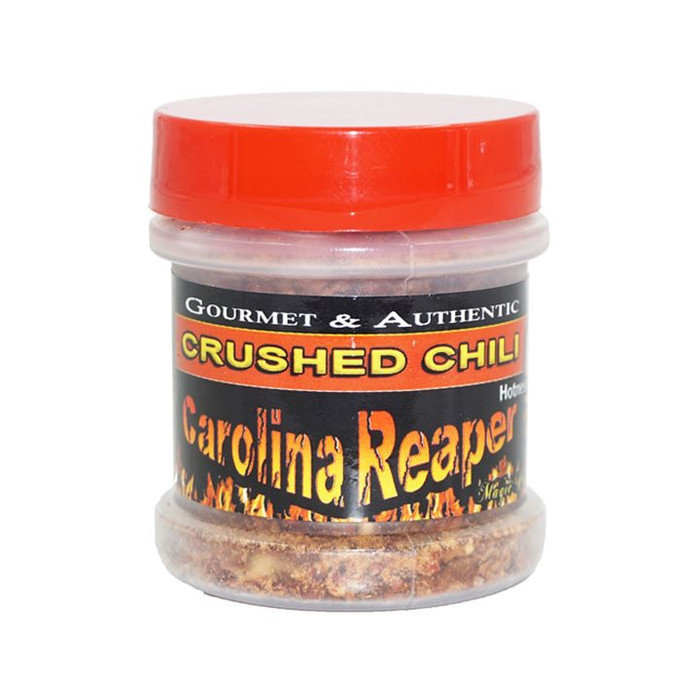 Carolina Reaper Pepper Flakes (Crushed) available at PepperExplosion.com hot sauce superstore