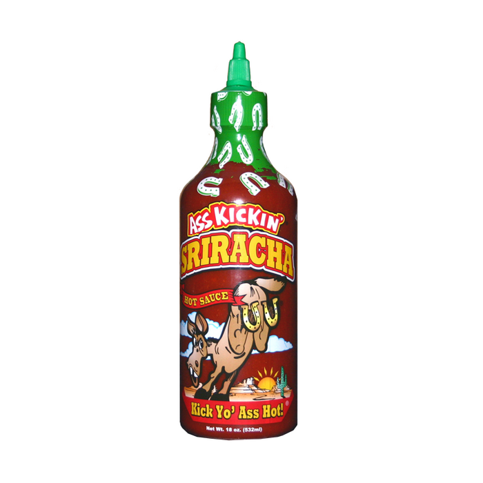 Ass Kickin Sriracha Hot Sauce available at PepperExoplosion.com