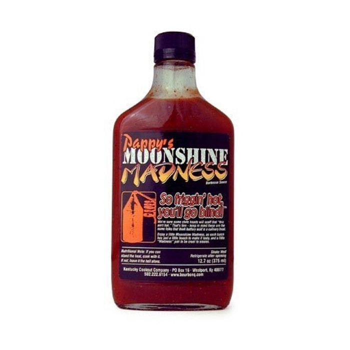Pappy's Moonshine Madness Hot Barbecue Sauce with Kentucky Bourbon