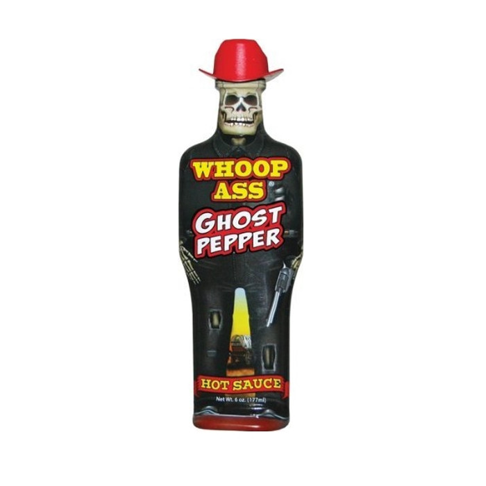 Whoop Ass Ghost Pepper Hot Sauce - buy at PepperExplosion.com