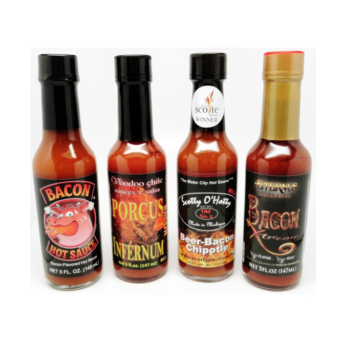 Bacon Lovers Hot Sauce Combo - Available at PepperExplosion.com