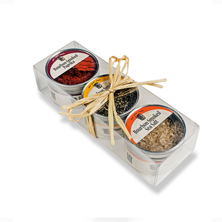 Bourbon Barrel Smoked Spice Set in a Gift Box