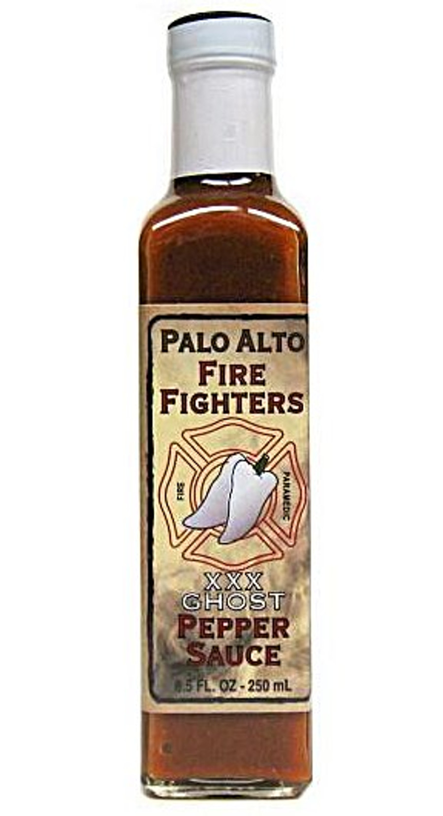 Palo Alto Firefighters Ghost Pepper Sauce is available now at PepperExplosion.com
