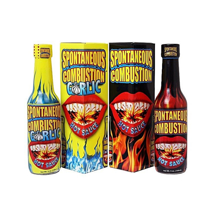 Spontaneous Combustion Hot Sauce Combo