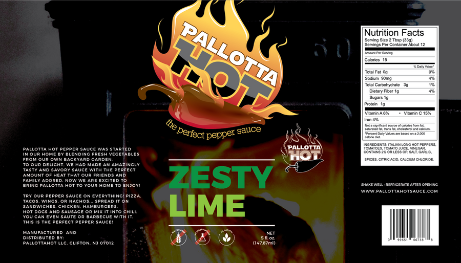 Pallotta Hot Zesty Lime