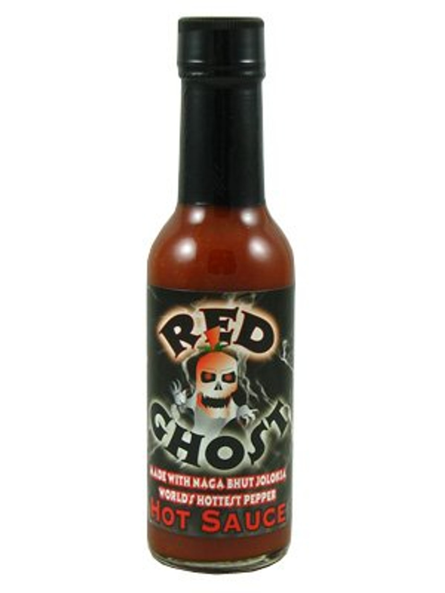 Red Ghost Jolokia Hot Sauce - PepperExplosion.com