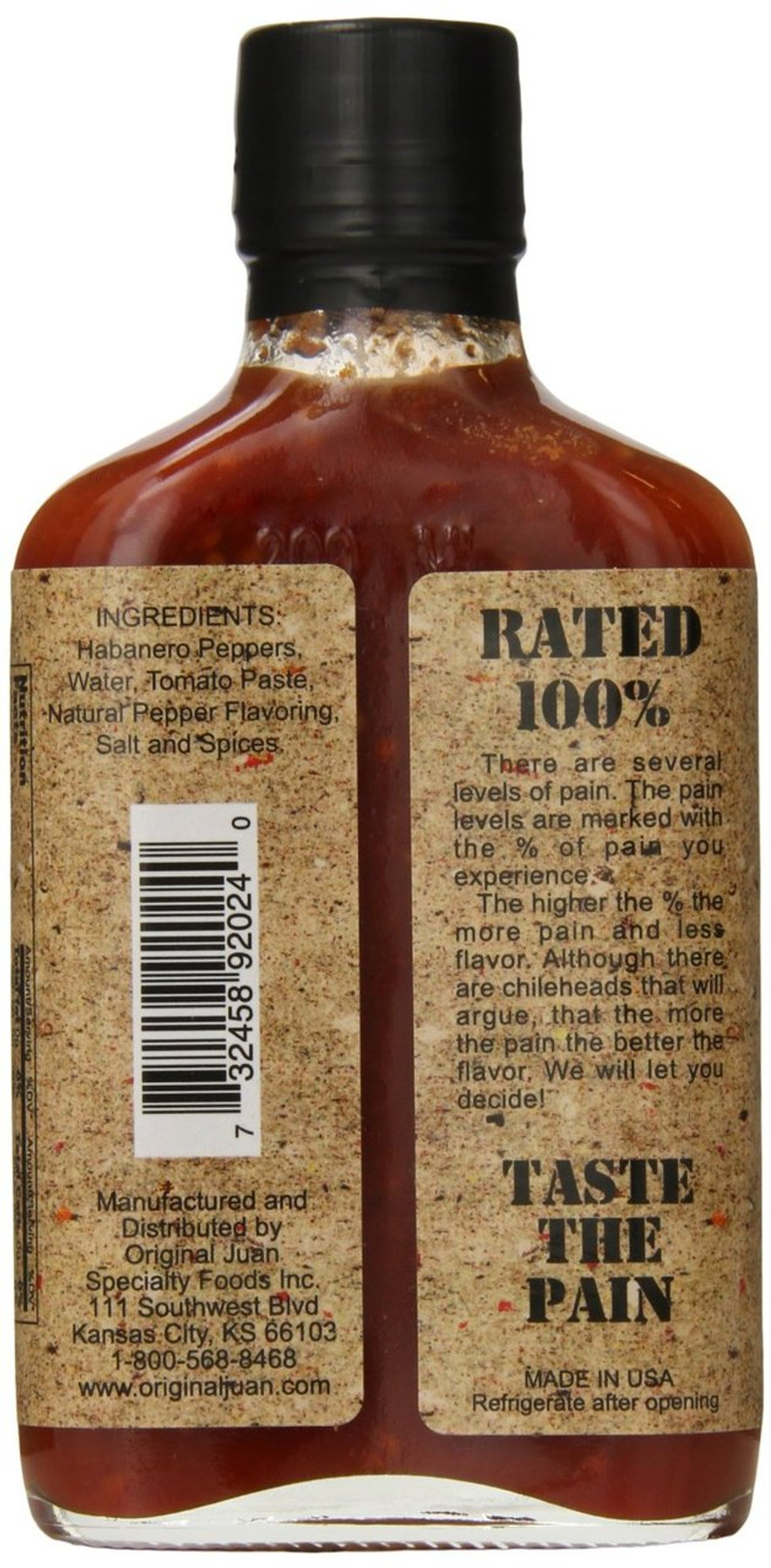 PAIN 100% Hot Sauce - buy at Pepper Explosion