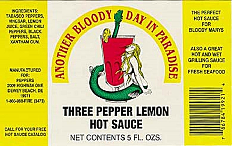 Another Bloody Day In Paradise (Three Pepper Lemon Hot Sauce) PepperExplosion.com
