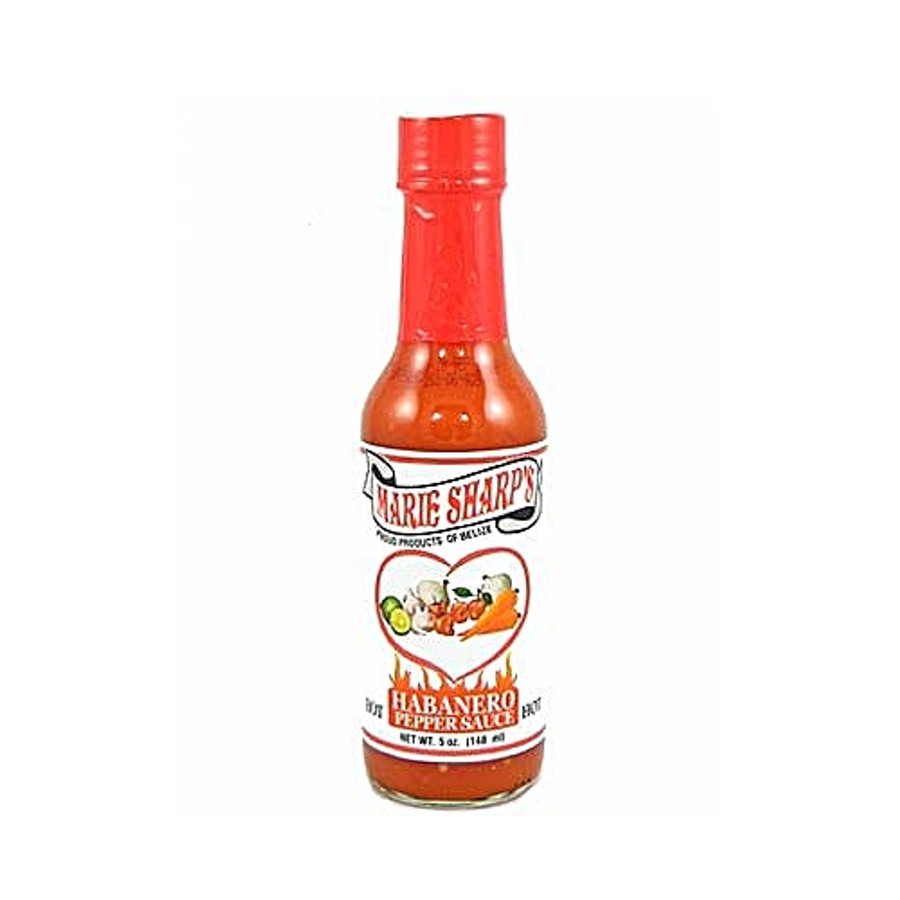 Marie Sharp's Hot Habanero Sauce available now at Pepper Explosion hot sauce superstore