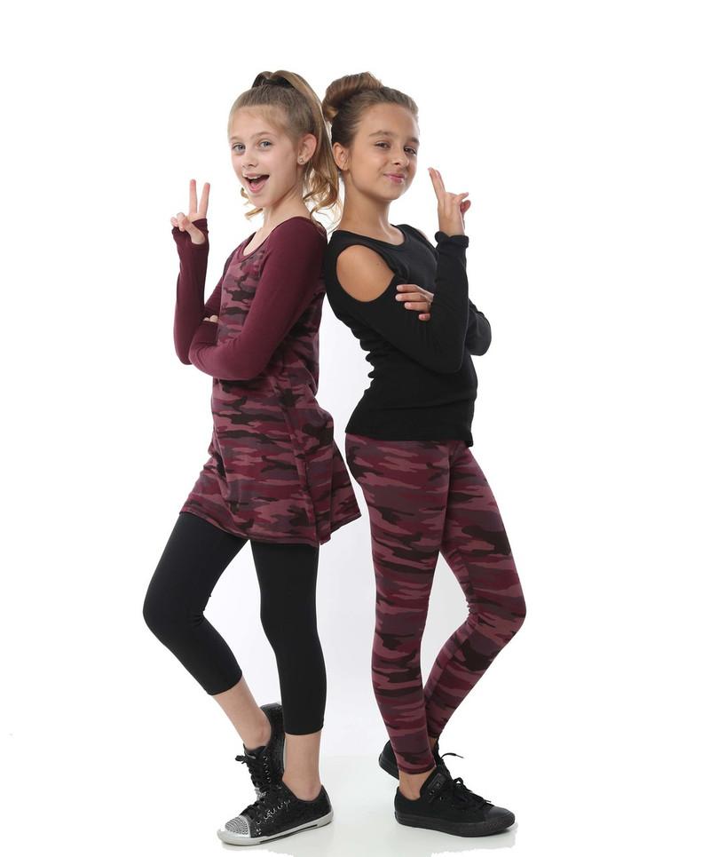 GIRLS LONG SLEEVE CUT SHOULDER WITH THUMBHOLE