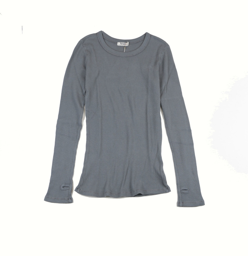 WOMEN LONG SLEEVE CREW THERMAL WITH THUMBHOLES