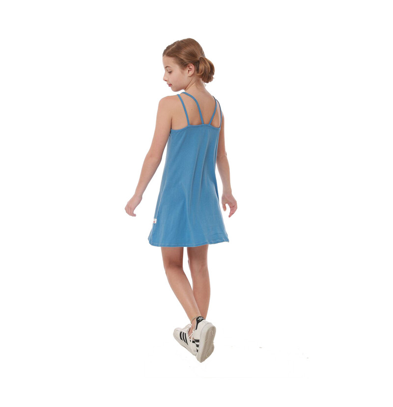 BLUE HEAVEN CRISS CROSS DRESS - BACK VIEW