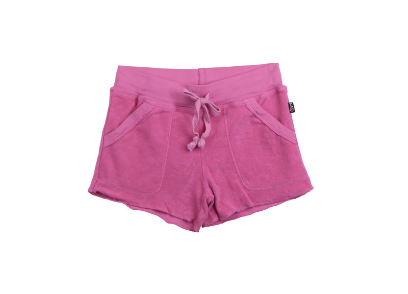 HOT PINK SWEAT SHORT WITH POCKETS