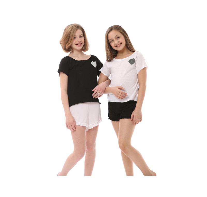 GIRLS JERSEY SIRO MODAL LYCRA  BEACH SHORTS