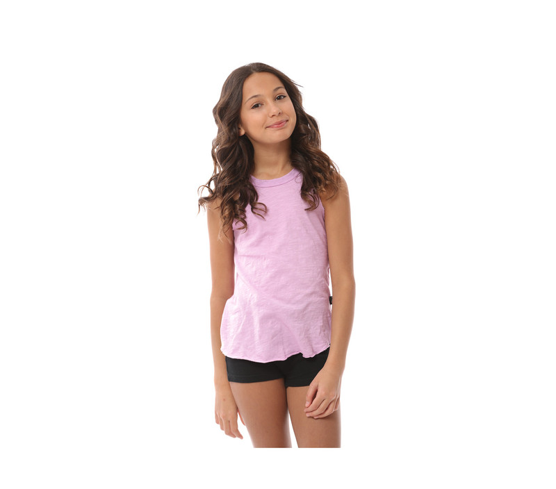 PASTEL LAVENDER RAW EDGE MUSCLE TOP