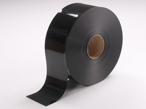 Black Smooth PVC Strip Rolls