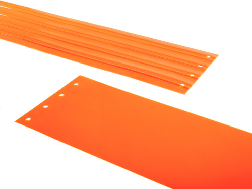 Safety Orange PVC Strip Door Replacement Strips
