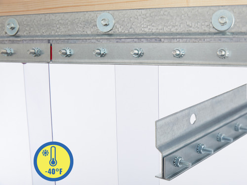 Extra Low Temp Wall Mount Strip Door Kit