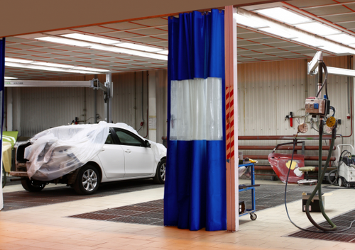 Auto Body Shop Curtains