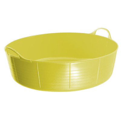 Large Shallow Tubtrugs are 35L. They are food grade safe, strong, flexible and colourful.