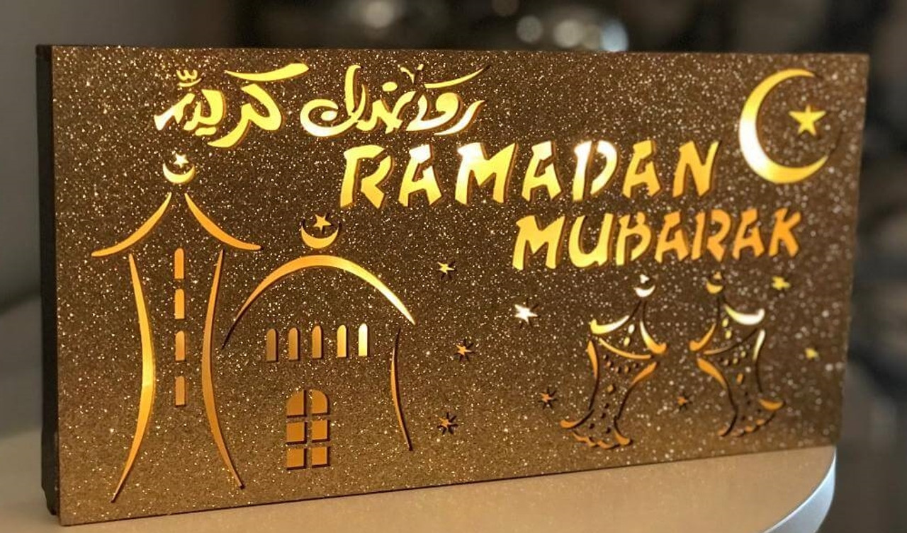 Battery Operated Ramadan Light Box