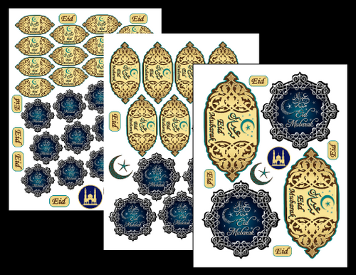 Eid Stickers Set
