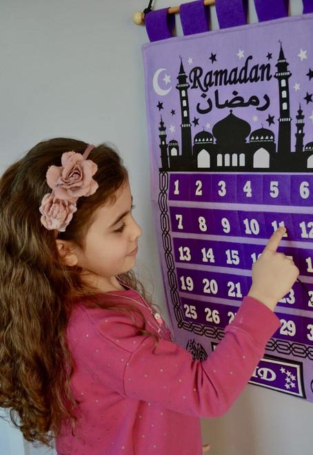 Purple Ramadan Tracker Twilight Mosque