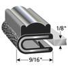 "Decorative Flexible PVC Chrome Snap-On Edge Trim 8100 B-3 X 1/8"""