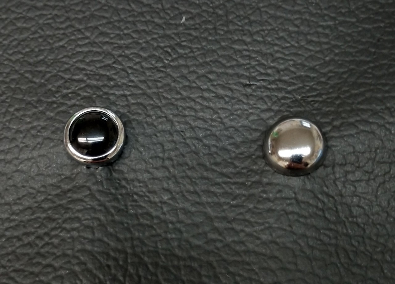Black Pearl & Chrome Seat Studs shown together!
