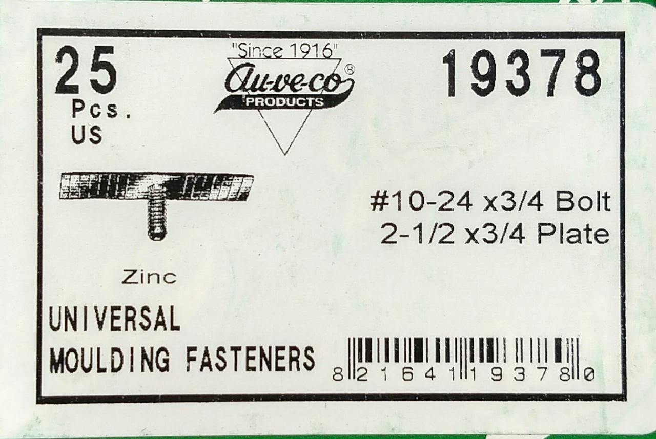 Auveco 19378 Universal Moulding Fastener Pack