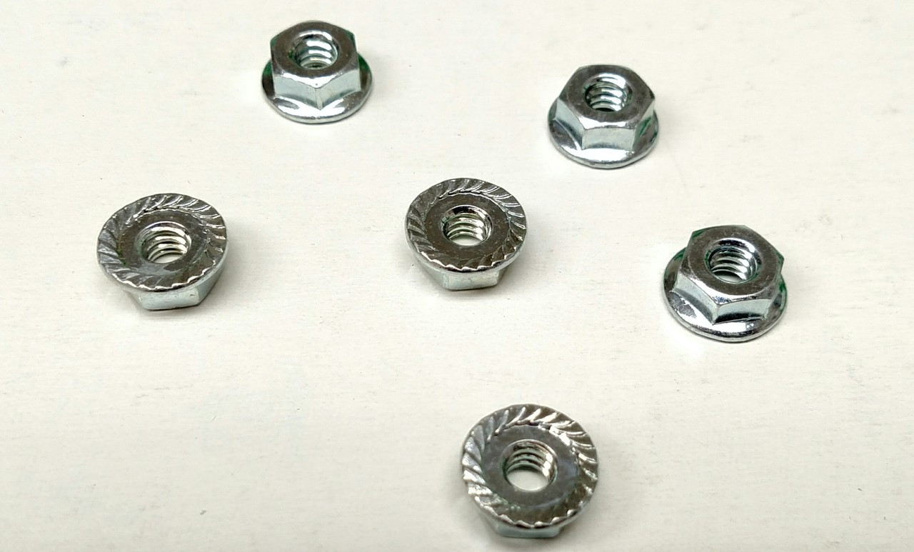 Hex Whiz-lock #10 X 24 Nuts sold separately / Use without washers!