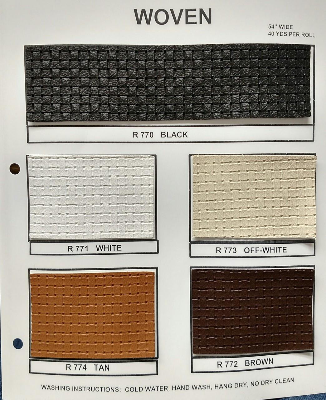 "Woven Pattern Brown Vinyl 54"""
