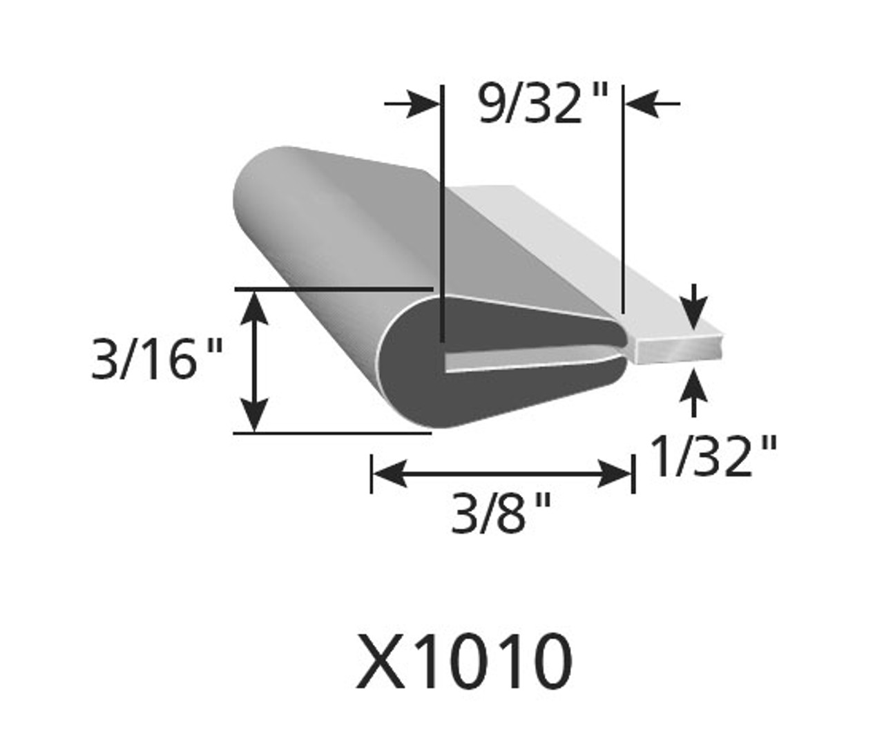 """3/8"""" Tall / Fits up to a 1/32"""" Edge Thickness with a Leg Length of 9/32"""""""