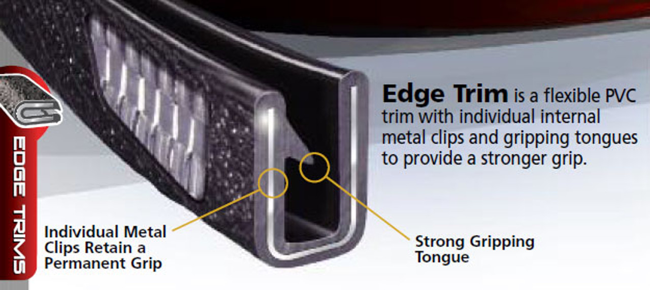 "Snap-On Flexible PVC Edge Trim 100 B-3 1/16"""