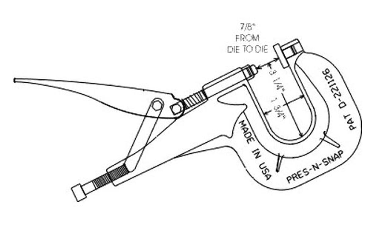 Inside Dimensions of Press-N-Snap Tool