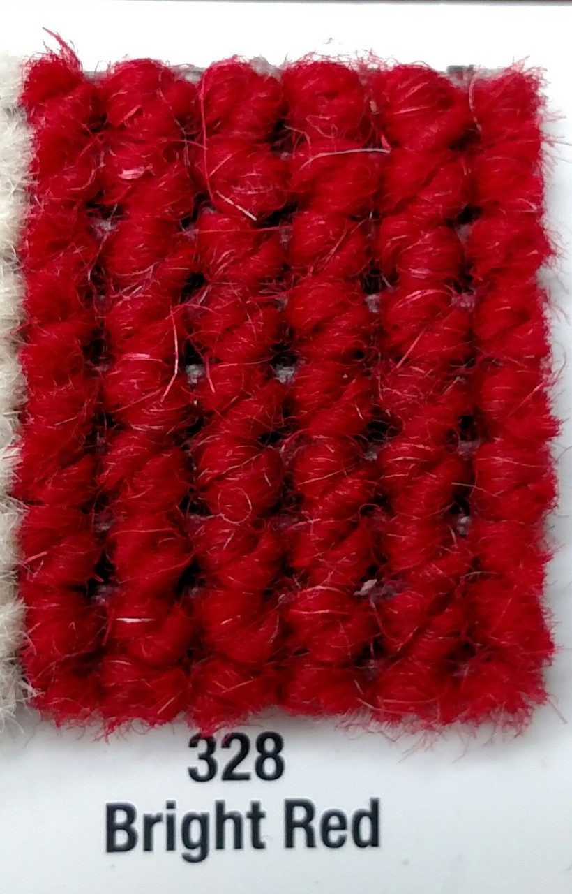 "Imported German Wool Square Weave Carpet 65"" - 328 Bright Red"