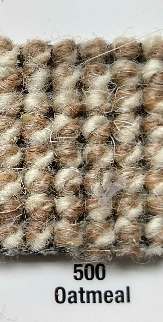 """Imported German Wool Square Weave Carpet 77"""" - 500 Oatmeal"""