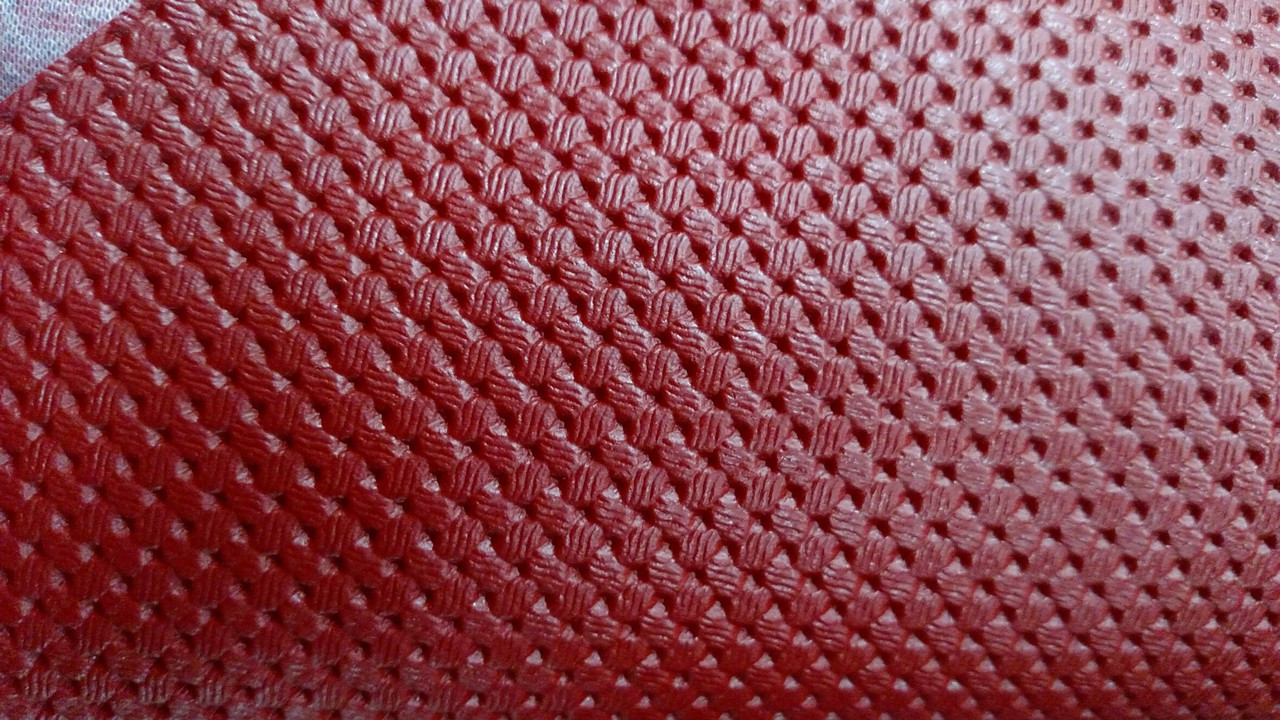 "Volkswagen Basketweave Pattern Red Vinyl 54"""