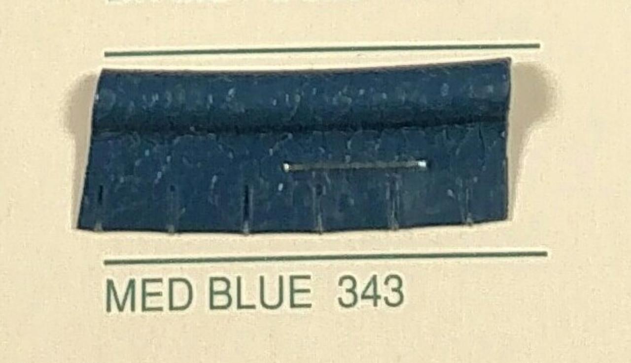 Embossed Snipped Seat Welt Medium Blue