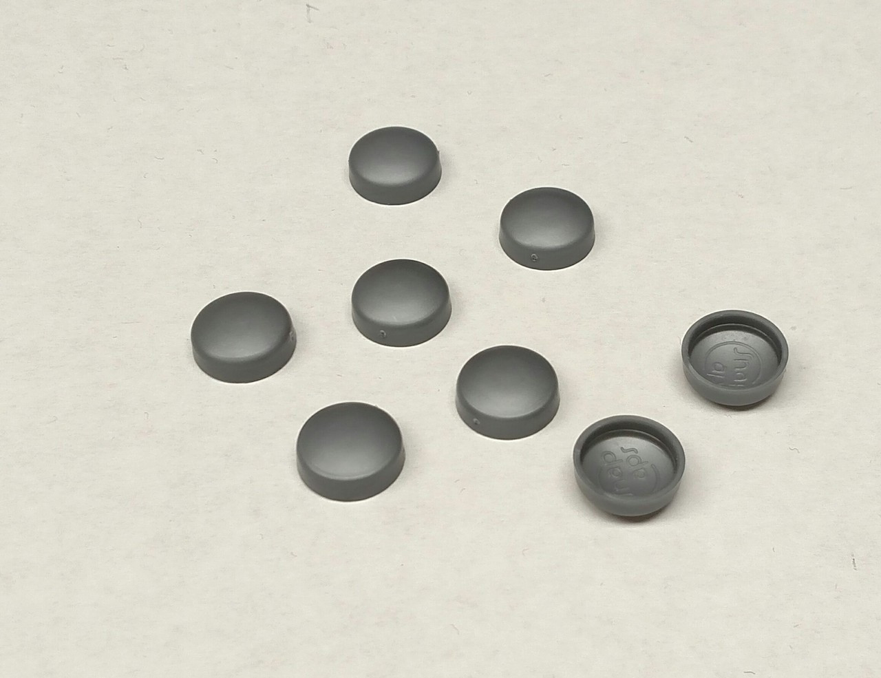 #12 Snap-Cap Silver Gray & Flat Base/Washer 25 Pack